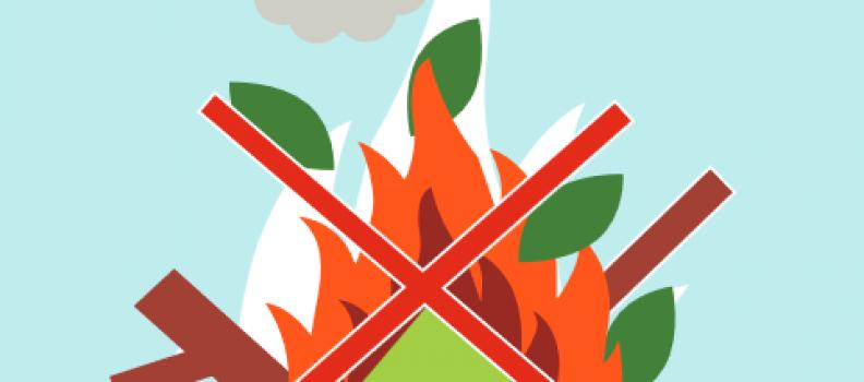 Information relative au brûlage des déchets verts