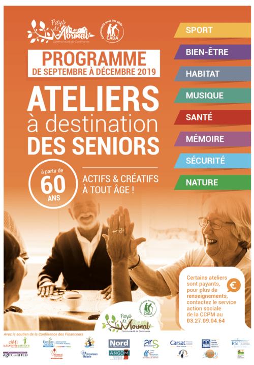 Programme des ateliers à destination des séniors